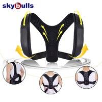 Skybulls Универсальный Регулируемый спины терапия плеча позвоночника поддержка осанки корректор для взрослых спортивный ремень безопасности ...