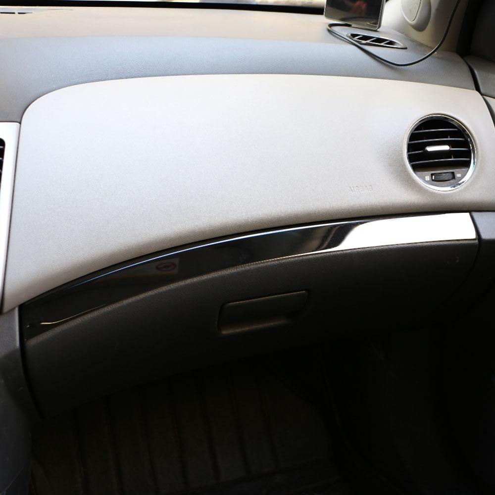 Jameo Auto Car Stainless Steel Storage Box Trim Decoration Sticker For Chevrolet Chvry Cruze 2009 - 2015 LHD Accessories