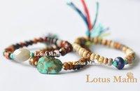 Lotus mann một Tập Hợp các Tiger Eye đá Mix Turquoise