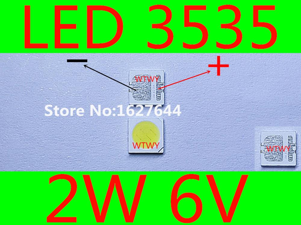 500PCS FOR LCD TV repair SEOUL led TV backlight strip lights with light emitting diode 3535
