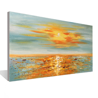 Seascape sunrise canvas painting living room dining room bedroom decoration painting wall art hand painted oil painting