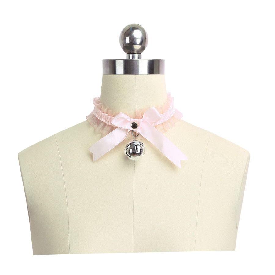 Kitten Play Collar DDLG Choker Necklace Lace Little Bow Bell Harley-Davidson Sportster