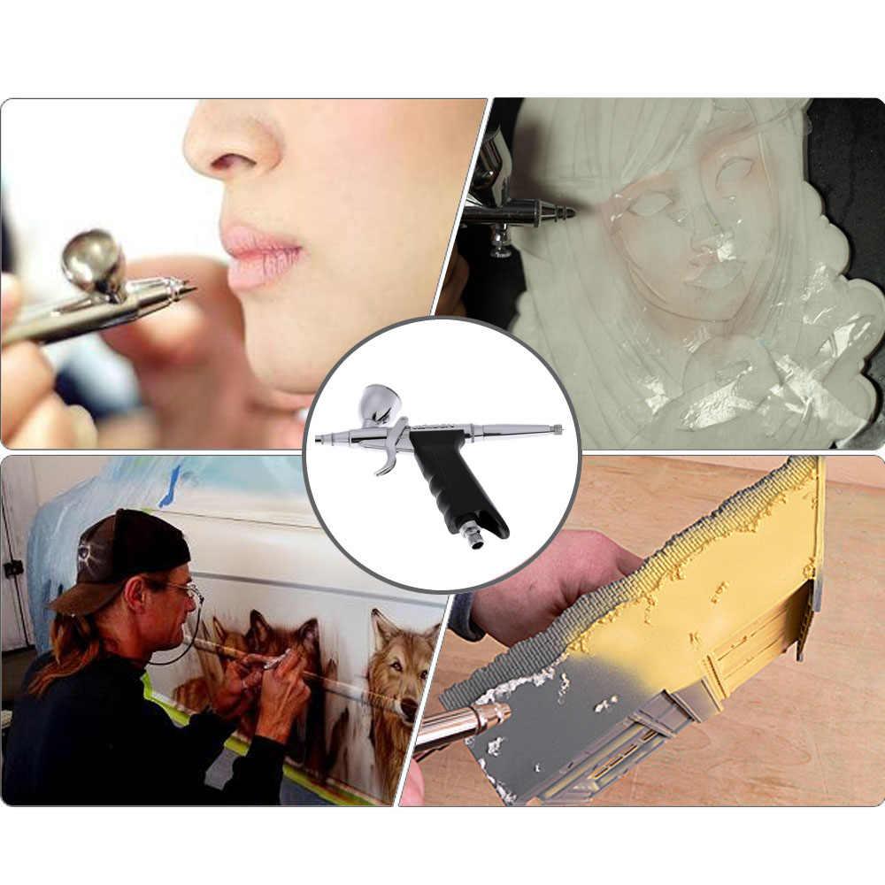 Mini airbrush kit compressor de ar Dupla Ação-brush Set pintura pistola sandblaster para Tattoo Art Manicure Modelo de carro ferramenta prego