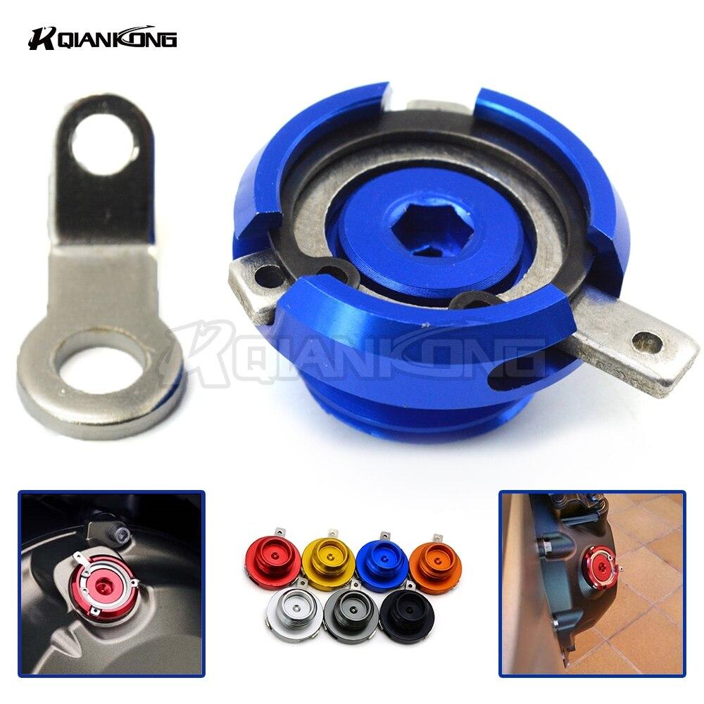 R QIANKONG, tapa de taza de llenado de aceite de motor CNC para YAMAHA MT09 Tracer/FJ09 2015-2016 FZ09 2013-2016 Tmax500 2008-12 Tmax 530 2013-16