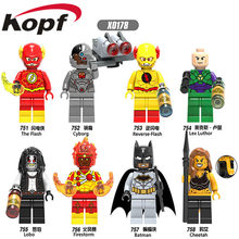 X0178 Building Blocks Super Heroes The Flash Lobo Reverse-flash Lex-Luther Firestorm Cheetah Bricks Action Toys Gift Children(China)