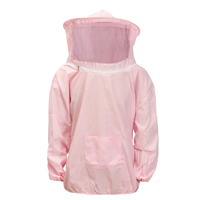 Durable Quality Polyester Cotton Beekeeping Jacket Veil Bee Keeping Hat Sleeve Suit Smock Equipment Pink New комплектующие для кормушек beekeeping 4 equipment121mm 91 158