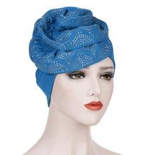 Feitong мусульманский перекрестный шарф Внутренняя Хиджаб Кепка мусульманская голова одежда шапка тюрбан головной платок женская мусульманская#38