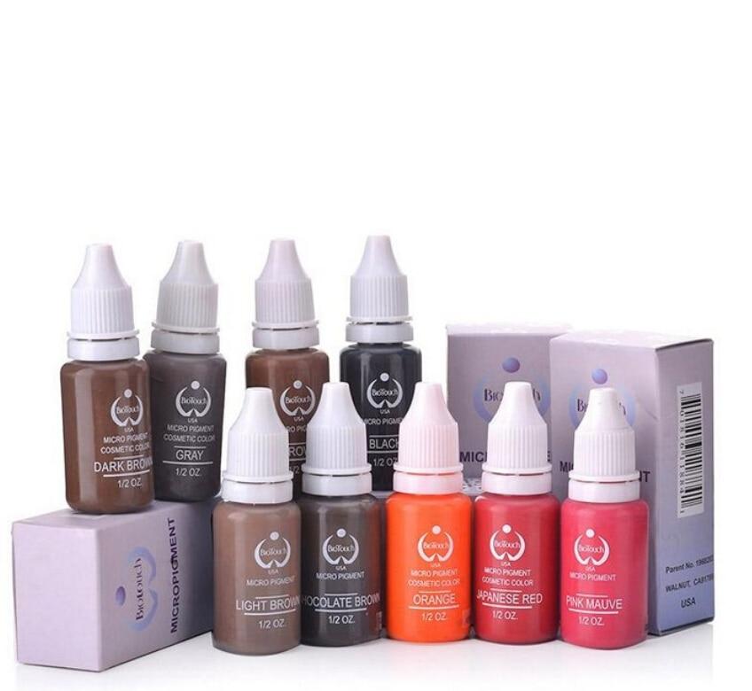 Tattoofarbe Pigment Für Permanent Make-Up Einfach Zu Tragen Micro Pigment Augenbraue Eyeliner Lip Body Tattoo Kunst Schönheit Werkzeuge