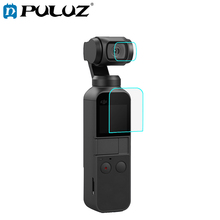 PULUZ HD Tempered Glass Lens Protector + Screen Film for DJI OSMO Pocket Gimbal puluz hd tempered glass lens protector screen film for dji osmo pocket gimbal