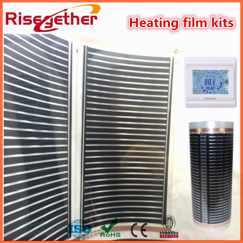 2 Squarre Meters Safety and Heathy 24V And 220V Carbon Cystal Radiant Warming Film Infrared Heating Film With LCD Thermostat biotechnology and safety assessment
