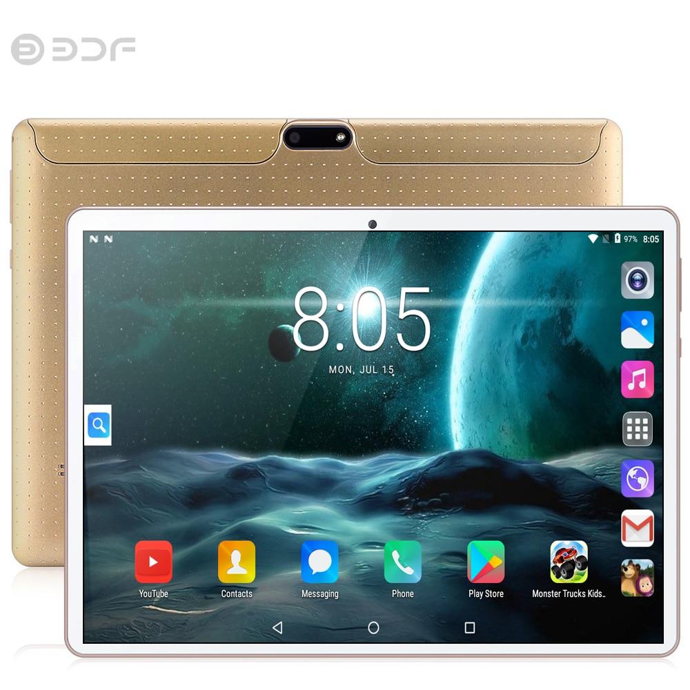 BDF Neue 10 zoll Original 4GB + 64GB Android 7.0 Tablet Pc SIM karte Octa Core CE Marke WiFi FM neue 3G Anruf laptop 7 8 9 Tab