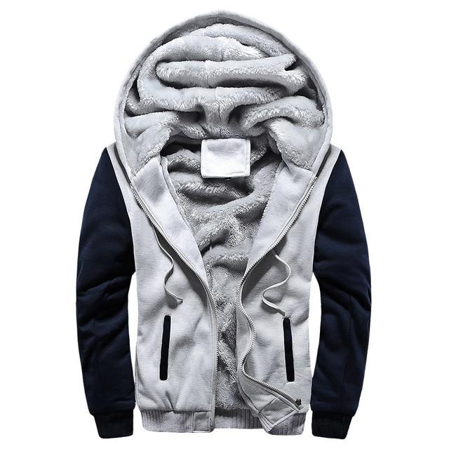 2020 New Men Hoodies Winter Warm Zipper Men Hoodies  3