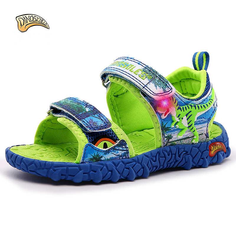 2018 ילדי סנדלי נעלי חוף ילדי קיץ סנדלי בני sandalia infantil ילדי סנדלי ילדים דינוזאור גודל 27-34