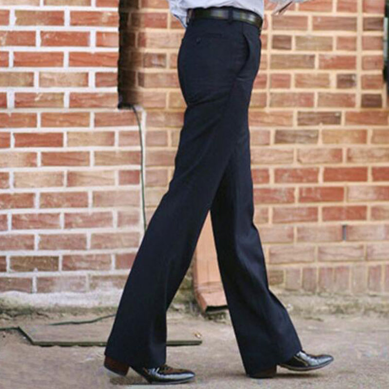 2019 New Men 39 s Flared Trousers Formal Pants Bell Bottom Pant Dance White Suit Pants Mens trousers Formal Size 28 37 in Flare Pants from Men 39 s Clothing