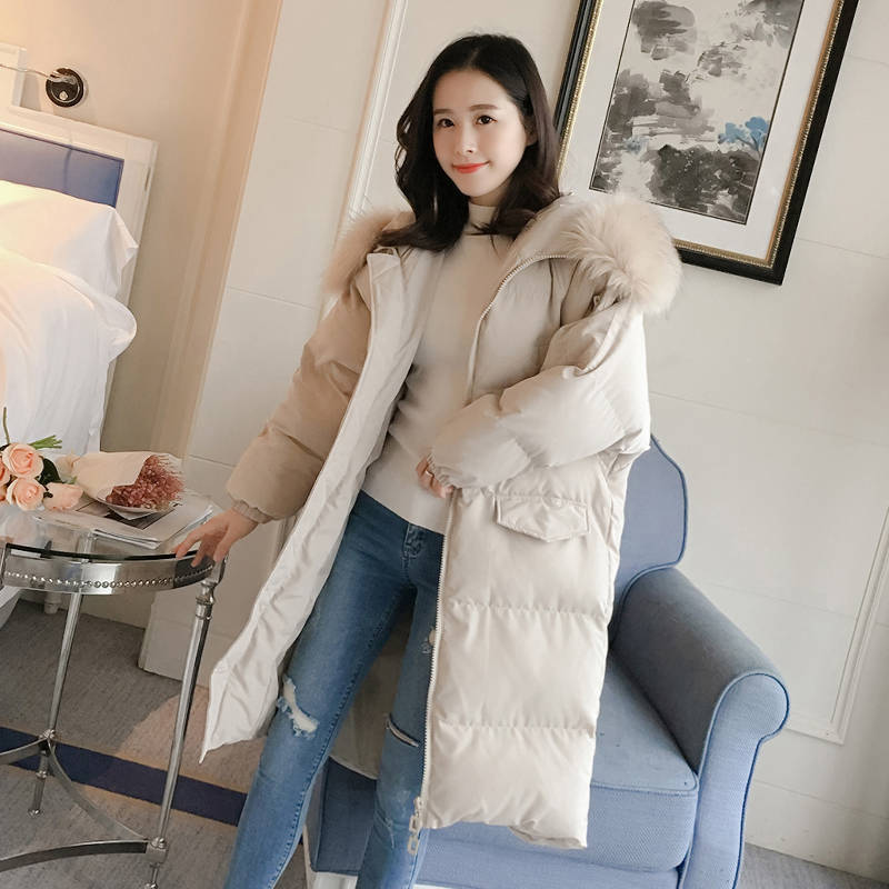 2018 Fashion Down Cotton Padded Jacket Female Winter Coats Cotton Jacket Korean Girls BF Hooded   Parkas   Outerwear A1550