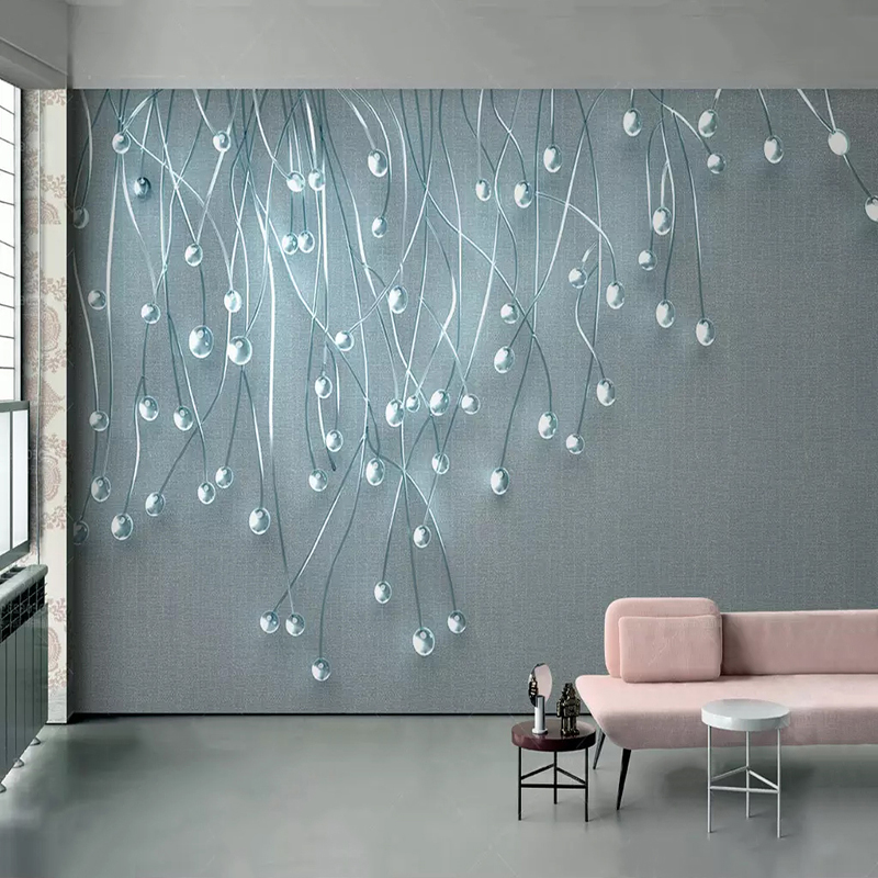 Custom Mural Wallpaper 3D Stereo Dazzling Glass Particle Cloth Pattern Photo Wall Paper Living Room Bedroom Modern Art Frescoes