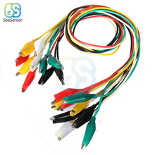 10pcs Line length 50cm Crocodile Clip Double-ended Crocodile Clips Cable Alligator Clips Wire Testing Wire Clip все цены