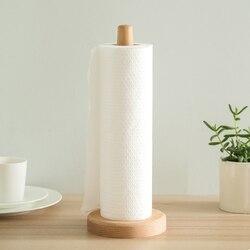 Buk drewniany pionowy stojak rolka stojak na papier uchwyt papier kuchenny ręcznik uchwyt papieru toaletowego gospodarstwa domowego narzędzia kuchenne w Uchwyty i stojaki od Dom i ogród na