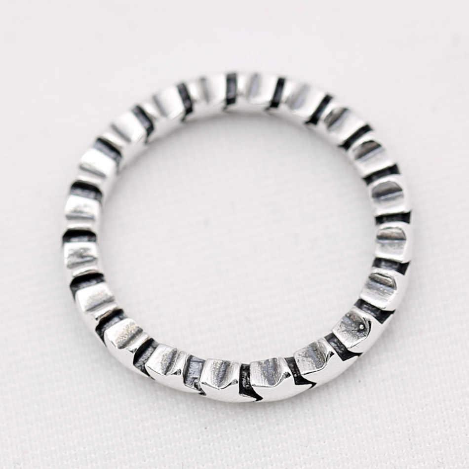 Аутентичные кольцо из стерлингового серебра 925, модная классическая цепочка со звездами, кольца для женщин, подарок на свадьбу, ювелирные украшения