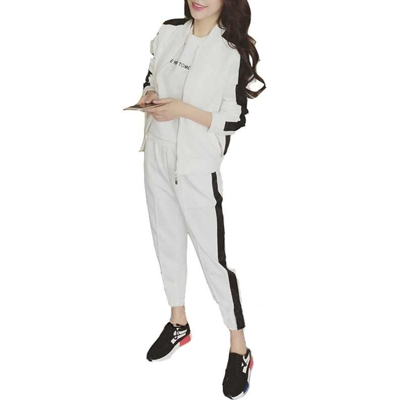 Women's 2Pcs Pants Suits Color Block Patchwork Pants Suits
