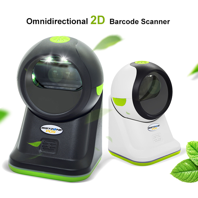 IOBC040 Desktop Omnidirectional 2D Barcode Scanner for Supermarket USB POS Bar code Reader Auto Scan PDF417 EAN Code128 free shipping omnidirectional laser barcode scanner mk ms7120 usb bar code reader for retail store supermarket ms 7120