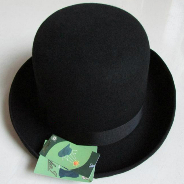 LIHUA Brand Party Fashion Bowler Hat 100% wool fedora trilby hats for men  derby felt billycock hats men s dome chapeu casquette fa646085613a