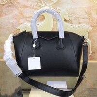 Real cowhide women's bag fashion leisure leather postman bag high quality designer luxury large capacity handbag
