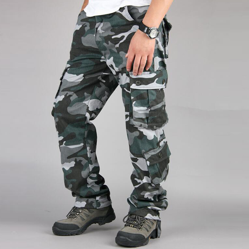 HTB1fK0BbY1YBuNjSszeq6yblFXaR Camouflage Pants Men Casual Camo Cargo Trousers Hip Hop Joggers Streetwear Pantalon Homme Multi-pocket Military Tactical Pants