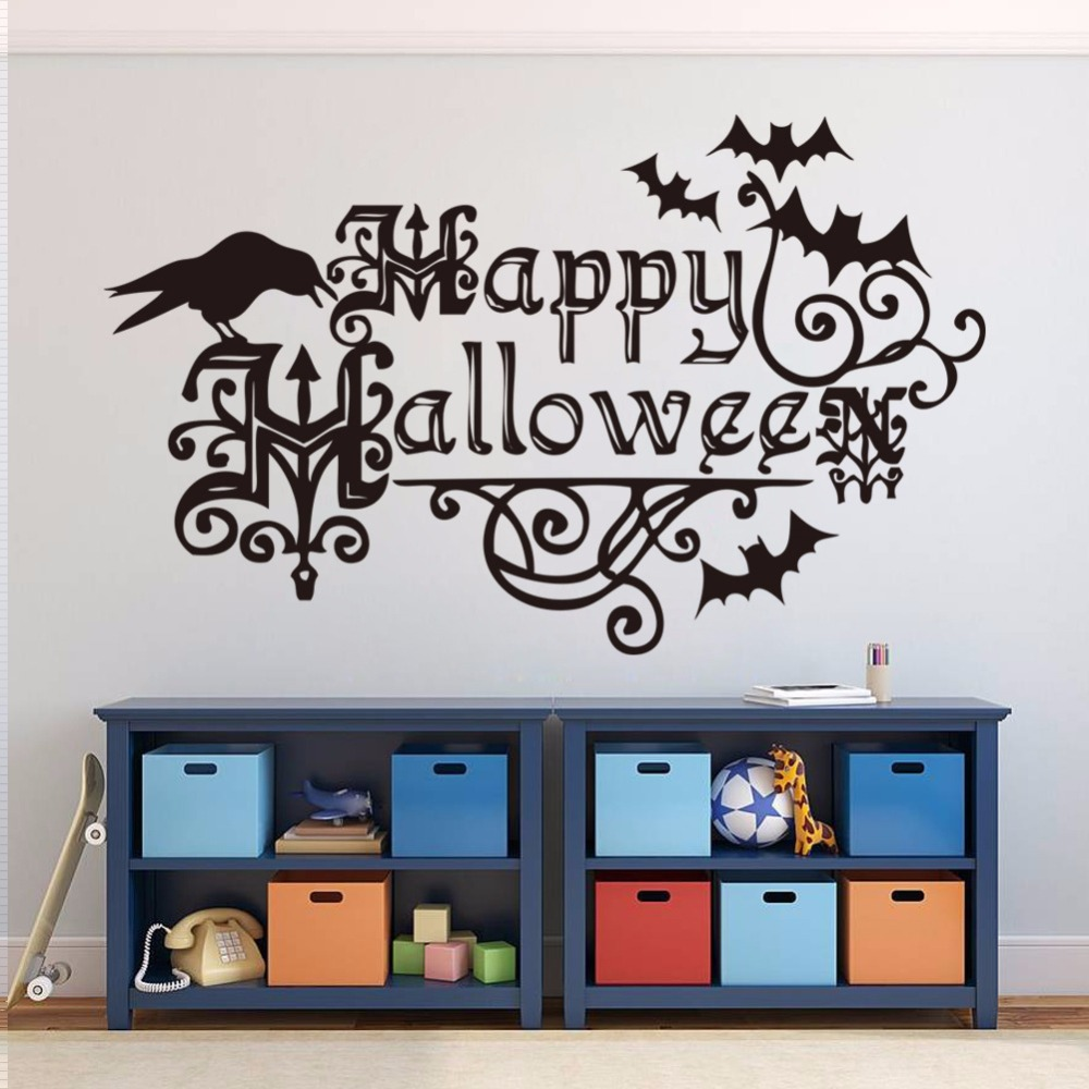 New Style Hy Letter Bat Wall Stickers Children S Bedroom Decoration Wholes In From Home Garden On Aliexpress