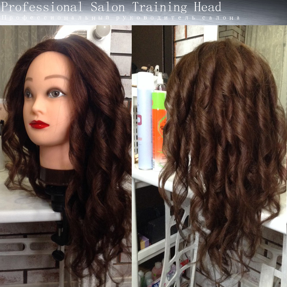 Image 2 - 100% Real Natural Human Hair Training Mannequin Head With Stand  Salon Professional Hairdressing Practice Manequi Head For  Barberhairdressing mannequinshuman hair traininghead hairdresser -