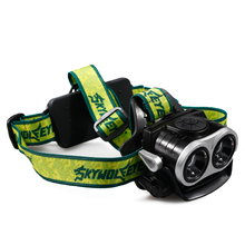 1000Lm LED Zoom Headlamp 2x XM-L T6 Headlight 3 Modes Head light Lamp + USB Charger P10