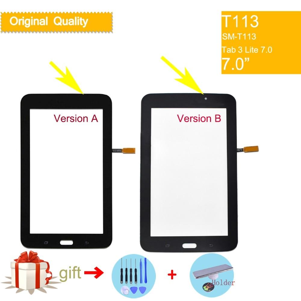 Сенсорный экран с дигитайзером для Samsung Galaxy TAB 3 LITE 7,0 дюйма, Φ T113, T113NU, T114, передняя стеклянная панель, сенсорный экран без ЖК-дисплея
