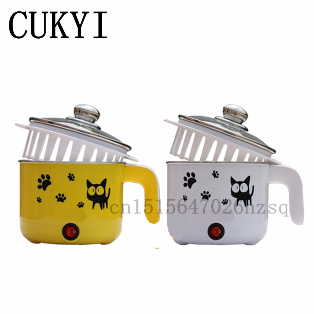 CUKYI 110v 450w Multifunctional electric boiler student dormitory pot noodle Electric kettle hot pot 1.2L cukyi household electric nonstick skillet student dormitory mini multifunction pot cooker electric cup 1 5l electric hot pot
