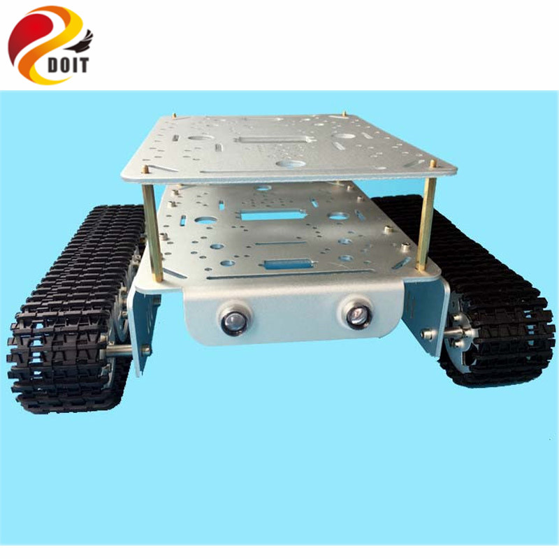 lost майка sleds td tank charcoal Official DOIT TD200 Double Caterpillar Heavy Metal Tank Chassis Robot Model Intelligent Car Electronic Contest