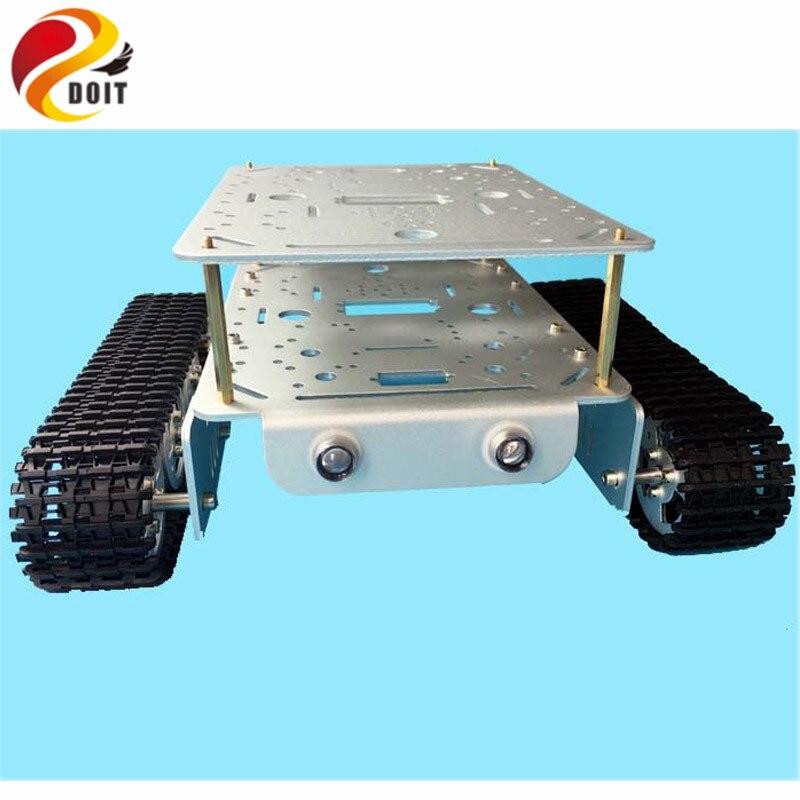 Oficial DOIT TD200 Doble Oruga Heavy Metal Chasis Del Tanque Modelo de Robot Coc