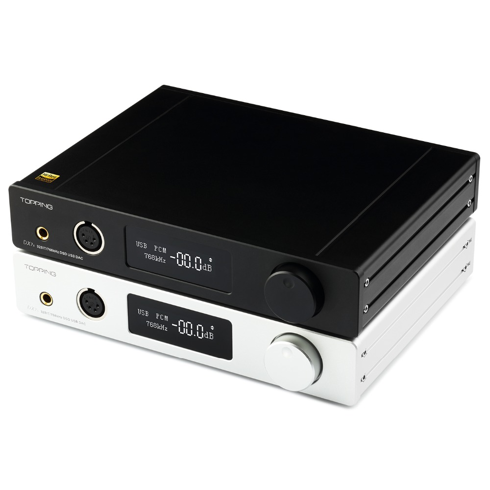 New Topping Dx7s 2 Es9038q2m Dsd512 Full Balanced Usb Dac Headphone Amplifier Xmos Xu208 Opa1612 Usb Opt Aes Coax Input Modern And Elegant In Fashion Headphone Amplifier