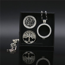 Deluxe Box Set include 2pcs Extra Silver Disc 33mm Coins and Tree of Life My Coin Pendant Necklace Set as Christmas Gift(China)