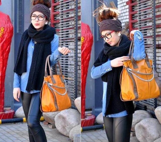 New Version Korean Women's Bag With Double Pocket