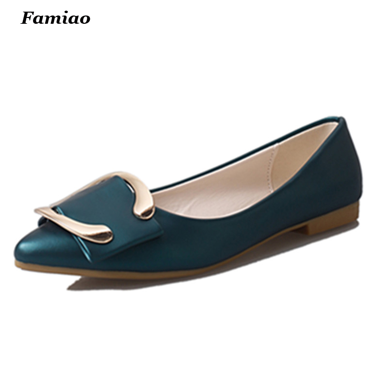 2016 Brand Spring New Arrival Women shoes with Classical Metal buckle Elegant and Fashion Women Flats Office and Casual 2014 spring and summer new elegant gold buckle leather shoes women shoes carrefour