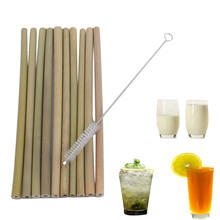10 шт./компл. бамбуковая Питьевая соломинки многократного использования экологически чистые вечерние кухонные+ чистящая щетка кухонные инструменты