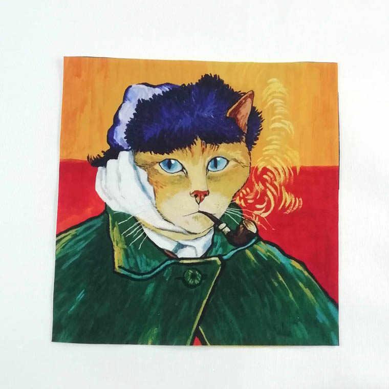27*28 см, 5 шт., для девочек, для кошек, ткань ручной работы, сделай сам, ткань, стеганая, для средних возрастов, для кошек, ручная роспись, цифровая печать, пэчворк, D30