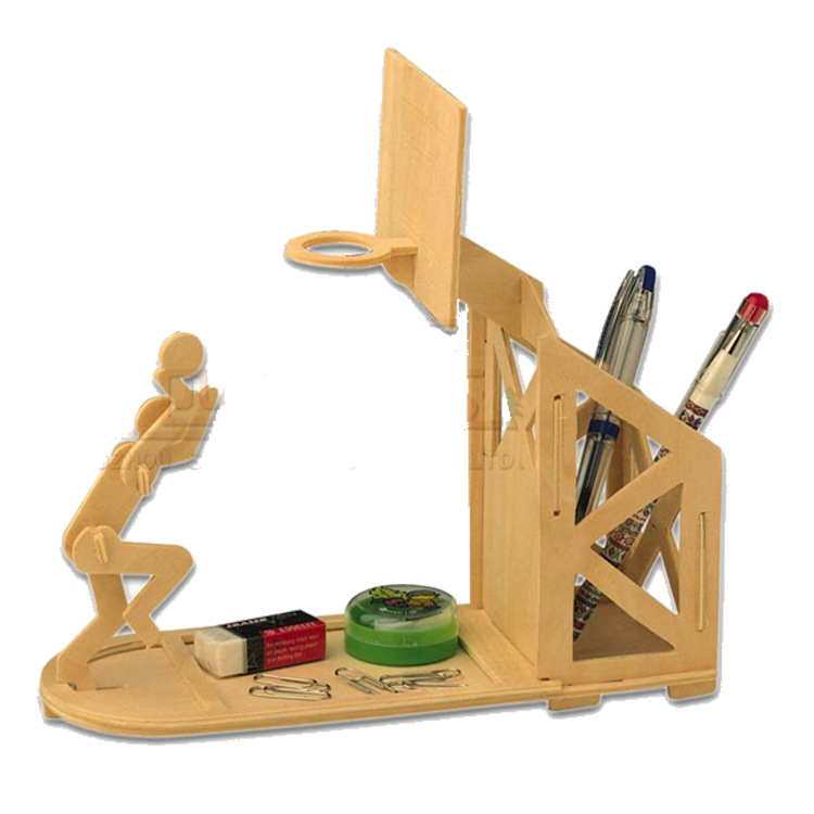 Wood Puzzle 3D Wooden Sports Pen Container Jigsaw Toy Educational Toys For DIY Handmade Puzzles Brush Pot Series In From