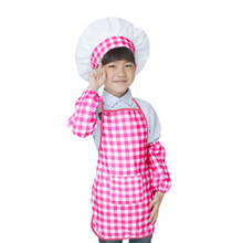 choldren's apron set painting apron kitchen cooking apron kids apron and hat kidergarten supplies