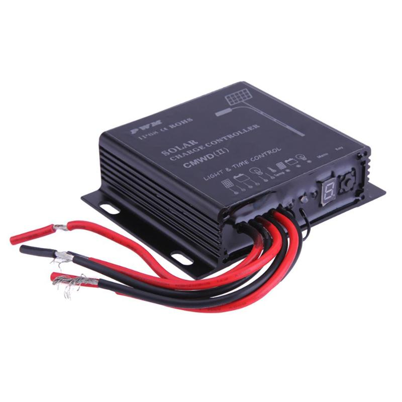Waterproof IP68 LED 10A/20A PWM Solar Panel Charge Regulator Controller 12-24V Auto Switch Timer with Auto,Manua,Debug Mode 21