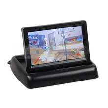 DIYKIT 4.3 inch Foldable TFT LCD Car Reverse Rear View Car Monitor for Camera DVD VCR