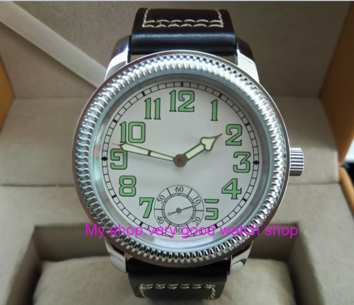 44mm PARNIS Asian ST3621/6498 Mechanical Hand Wind movement Mechanical watches Luminous white dial men's watches YB02 аккумулятор yoobao yb 6014 10400mah green