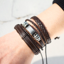 6 Design Vintage Multi-layer Leather Bracelet Women Men Fashion Handmade Wristband Bracelet Rope Jewelry Wrap Bracelets & Bangles