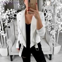 Женская короткая куртка на молнии, черная или белая куртка на осень, 2019