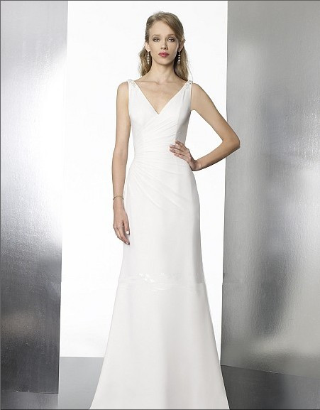 2018 Rushed Vestido De Novia party Bridal Gown Sheath Sweep Brush Train sexy Backless simple cheap bridesmaid dresses in Bridesmaid Dresses from Weddings Events