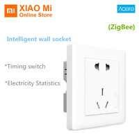 Xiaomi Aqara Smart Wall Socket ZigBee wifi Remotel Control Wireless Switch Work for Xiaomi Smart home kits APP